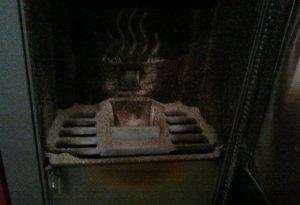 La camera di combustione dopo l'utilizzo di Euro Pellet