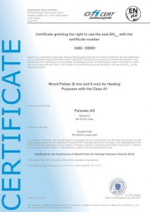 Il certificato della Palmako