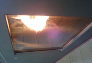 Il vetro della stufa dopo poche ore