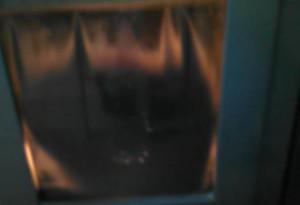Il vetro della stufa come appare dopo un sacco