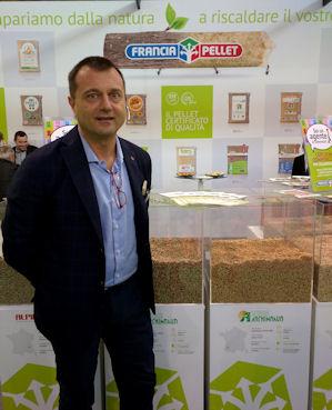 Il fondatore di Francia Pellet, Maurizio Annovati
