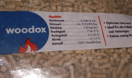 Pellet Woodox tedesco di abete rosso