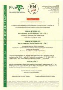 Il Certificato EnPlusA1 di Geminati