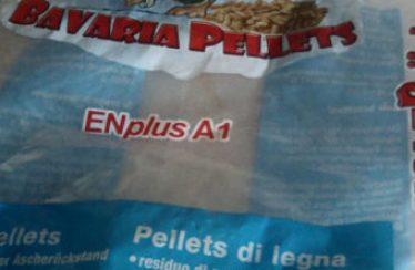 Residuo nel sacco di Bavaria pellet usato nella recensione di questo pellet tedesco